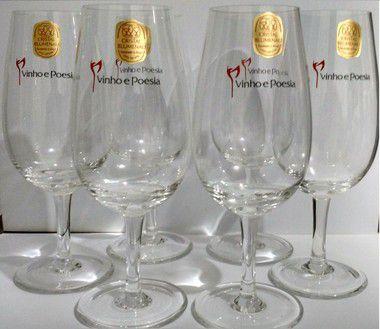 Taças de Degustação Vinho & Poesia (kit com 6 taças)