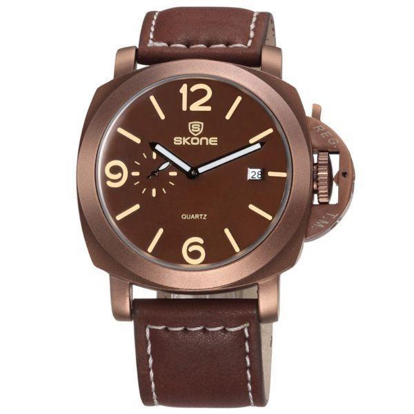 b56a02a534a Relógio Masculino Skone Analógico 9408EG Bronze - ShopDesconto ...