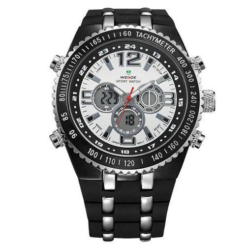 Relógio Masculino Weide AnaDigi Casual WH-1107 Prata - ShopDesconto ... ffb000382783f