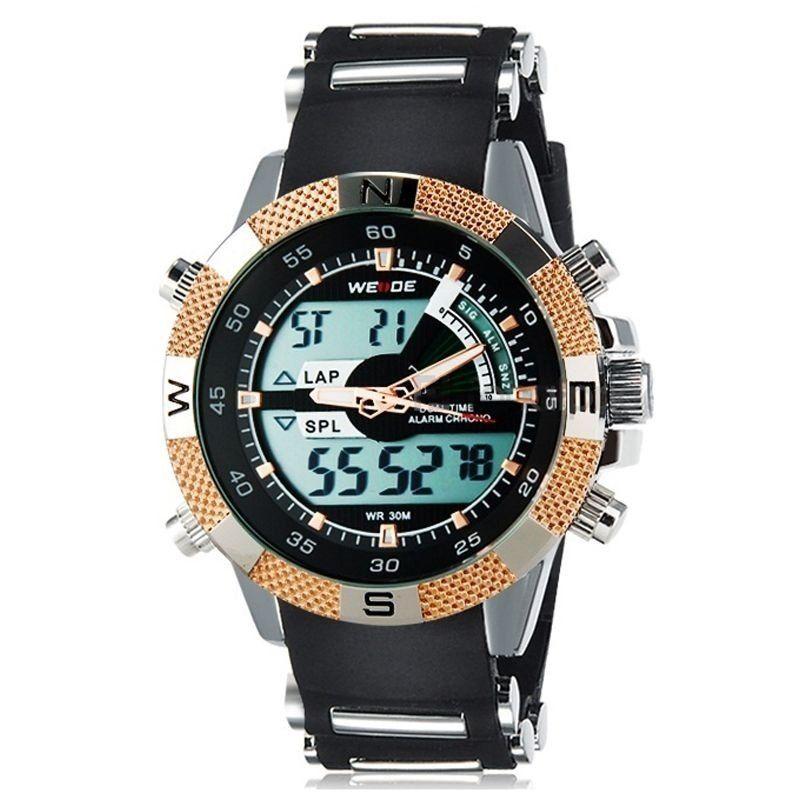 76cf084ad72 Relógio Masculino Weide AnaDigi Esporte WH-1104 Dourado ...