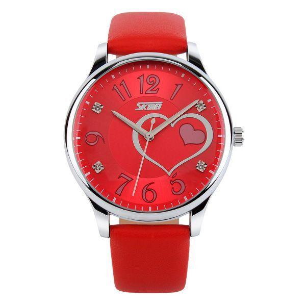 9d070fae7bd Relógio Feminino Skmei Analógico 9085 Vermelho