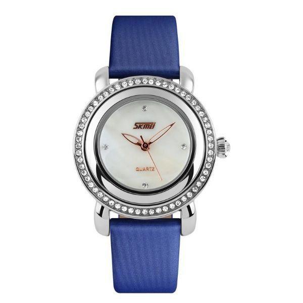 e0b30d736bf Relógio Feminino Skmei Analógico 9093 Azul - ShopDesconto - Aqui ...