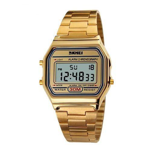 28645935a68 Relógio Skmei Digital 1123 Dourado - ShopDesconto - Aqui você sempre ...