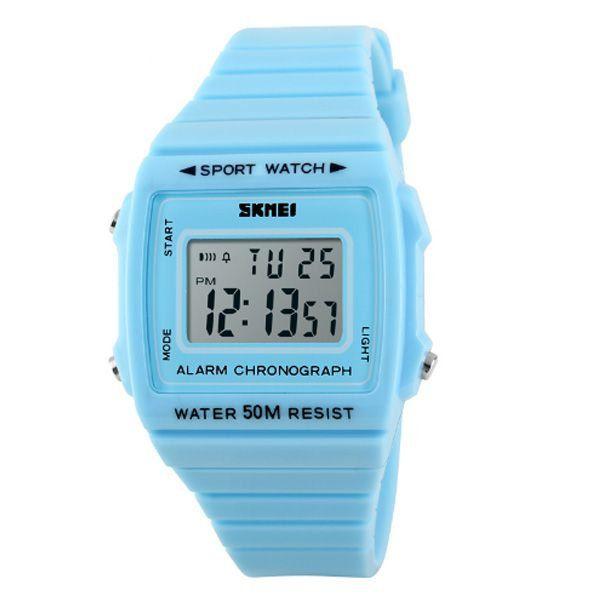 c2a8f3545a6 Relógio Feminino Skmei Digital 1136 Azul - ShopDesconto - Aqui você ...