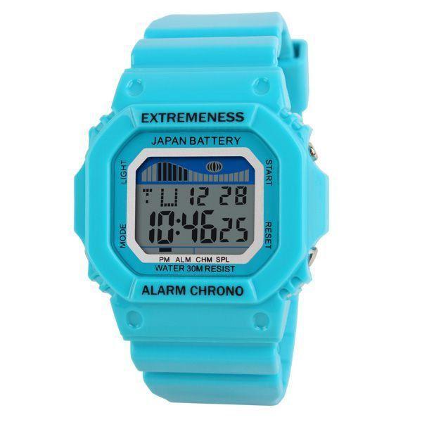 246d873abc1 Relógio Feminino Skmei Digital 6918 Azul - ShopDesconto - Aqui você ...