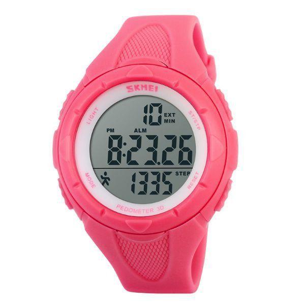 bb56959f92b Relógio Feminino Skmei Pedômetro Digital 1108 Rosa - ShopDesconto ...