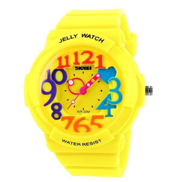 7cc92afe4de Relógio Infantil Skmei Analógico 1042 Amarelo - ShopDesconto - Aqui ...
