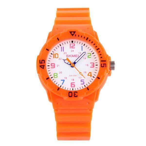 de722f8382b Relógio Infantil Skmei Analógico 1043 Laranja - ShopDesconto - Aqui ...