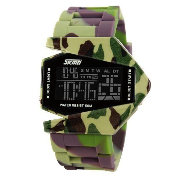 39cf95ad38c Relógio Masculino Skmei Digital 0817 Verde e Marrom - ShopDesconto ...