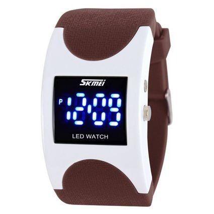 37e3c5af577 Relógio Skmei Digital 0951 Marrom e Branco - ShopDesconto - Aqui ...