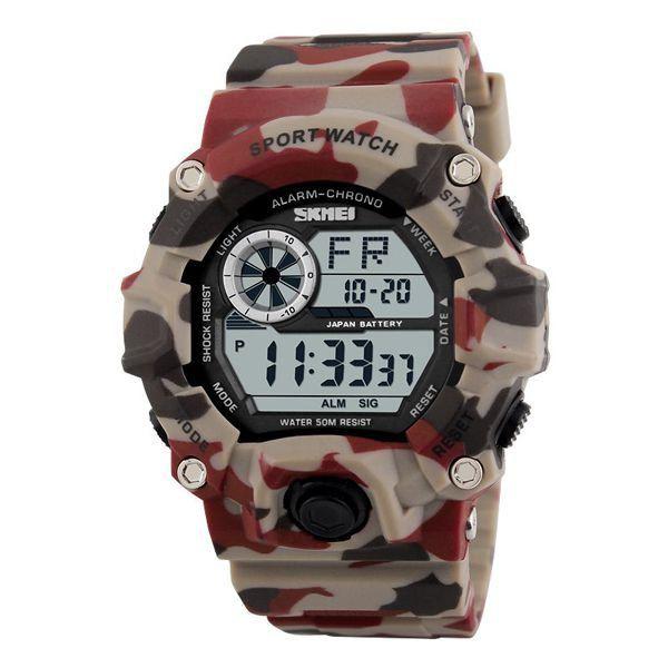 79fbe8d88a2 Relógio Masculino Skmei Digital 1019 Camuflado Bege - ShopDesconto ...