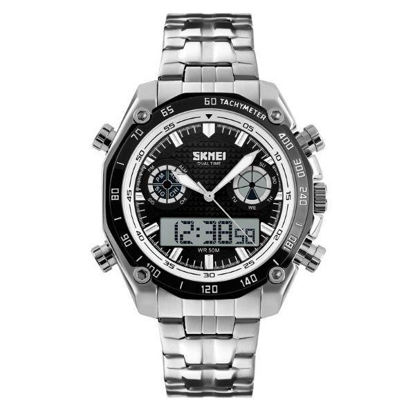 990c2072598 3bfaaeabb64 Relógio Masculino Skmei Anadigi 1204 Branco - ShopDesconto -  Aqui .. ...