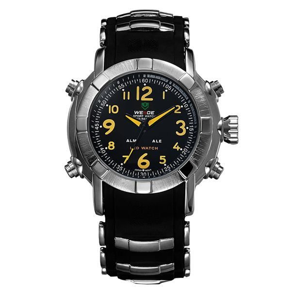 Relógio Masculino Weide Anadigi WH-1106 Amarelo - ShopDesconto ... cc02b604d4b66