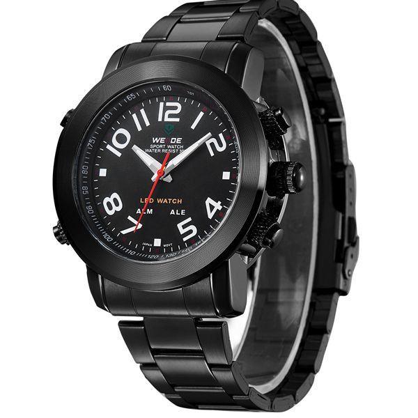 dcd233b9b58 Relógio Masculino Weide Anadigi WH-1105 Preto - ShopDesconto - Aqui ...