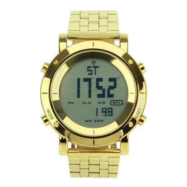 37a560f808c Relógio Masculino Tuguir Metal Digital TG6017 Dourado - ShopDesconto ...