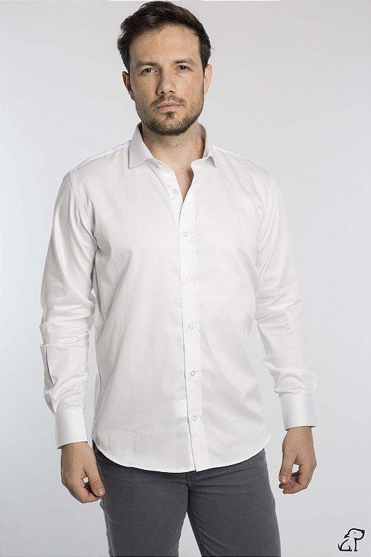 Camisa Social Algodão Slim Branco