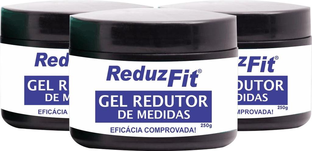 Kit com 3 Reduz Fit - Gel Redutor de Medidas, Gel para Perder Barriga, Celulite e Flacidez