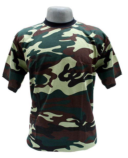 Camiseta Camuflada Exército Masculina 100% Algodão - BotaParanda ... 69029786435