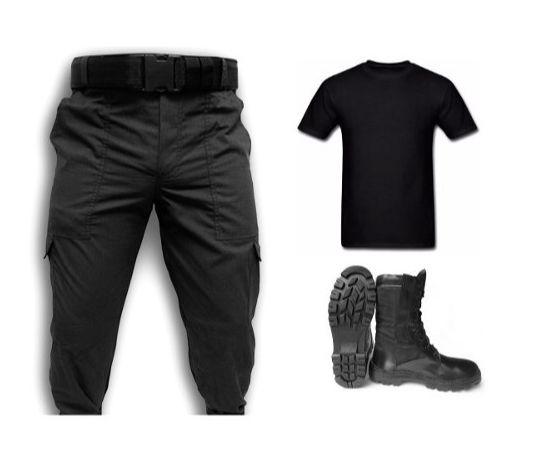 5b612054ba4ef Kit Tático - Calça Ripstop + Coturno + Camiseta + Cinto ...