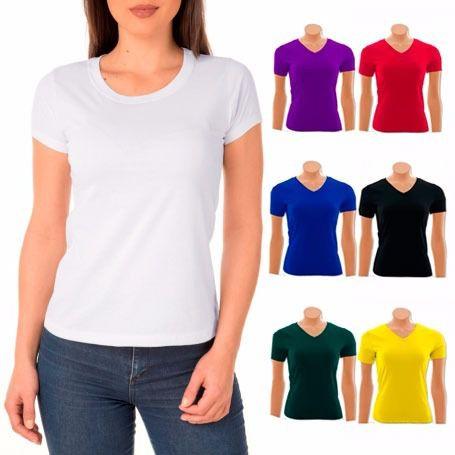 Kit 100 camisetas básicas feminina 100% algodão - Uniformes ... 581a712e1dd87