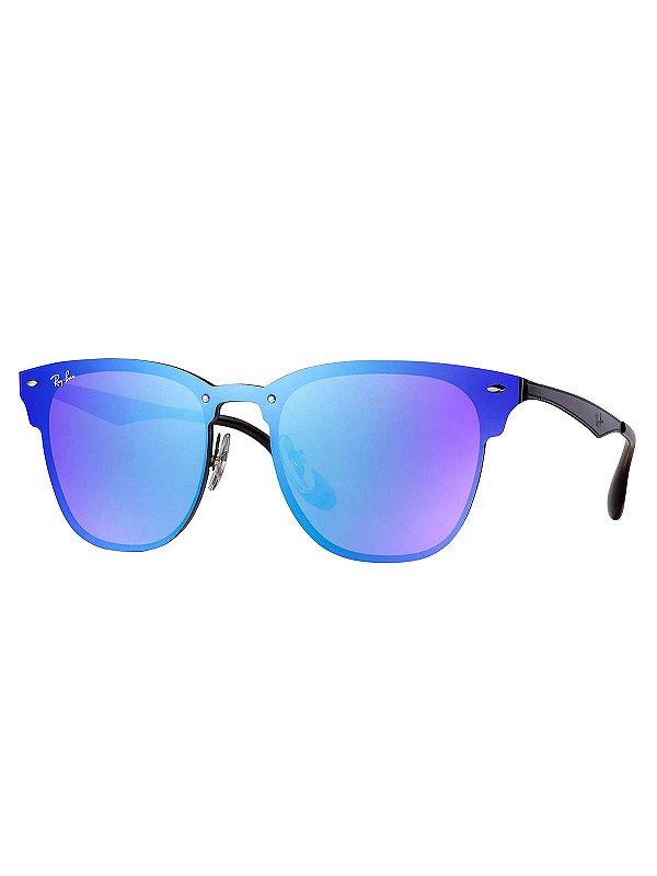 9b708a432 Óculos Ray Ban Blaze Clubmaster SPOC - Chic Outlet - Economize com estilo!