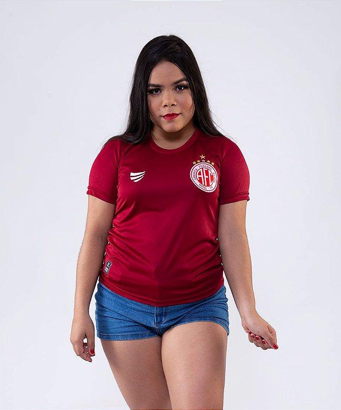 CAMISA OFICIAL FEMININA SUPER BOLA AMÉRICA DE NATAL PRÉ JOGO