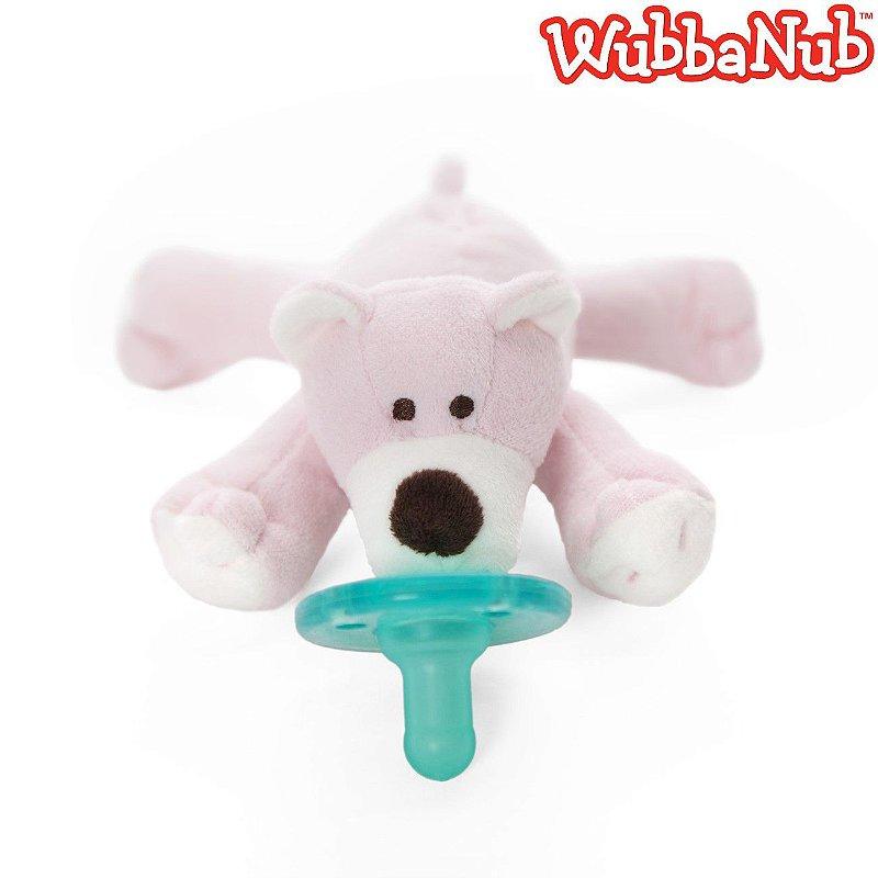 WubbaNub: A chupeta mais fofa que existe! - Urso Rosa (Pink Bear)
