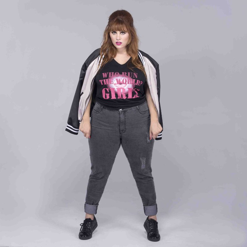 Calça Jeans Estonada Skinny Plus Size