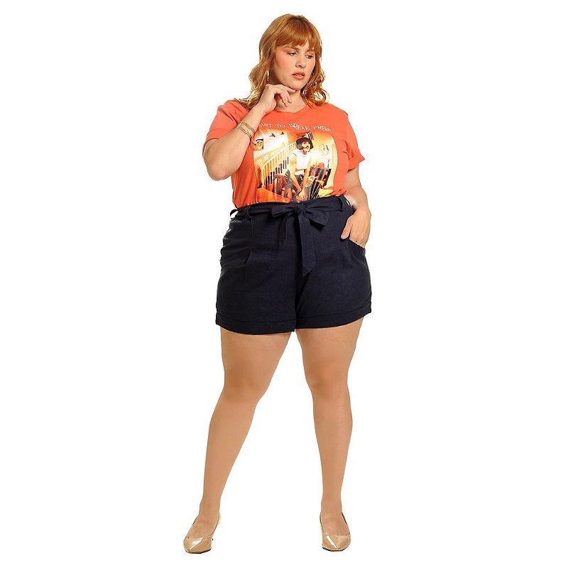 T-Shirt Plus Size Queen Coral