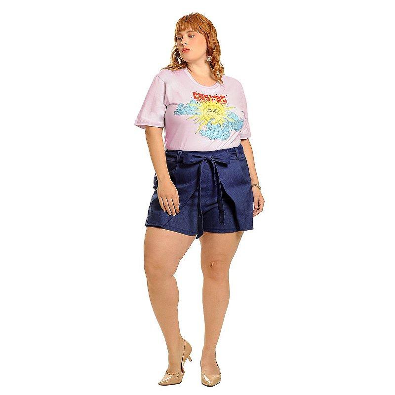 T-Shirt  Plus Size Cosmic Lilás