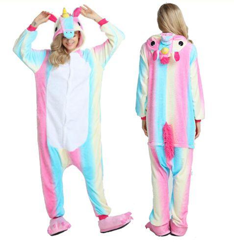Pijama Onesie de Unicórnio Arco-Íris Branco Regent St Blue GG f5f3c94e0bef5