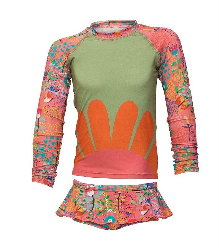 Camisa UV + Calcinha - Jardim Encantado