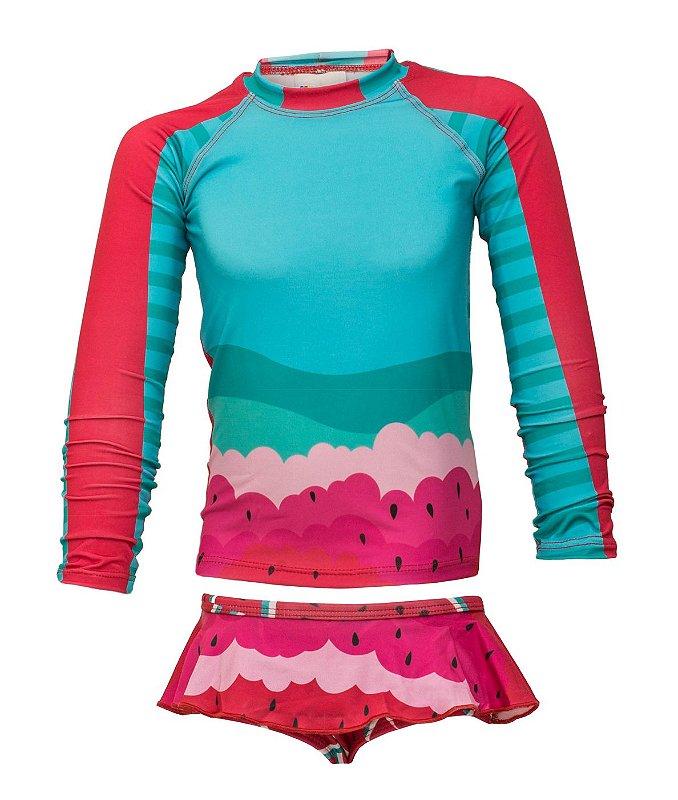 Camisa UV + Calcinha - Melancia