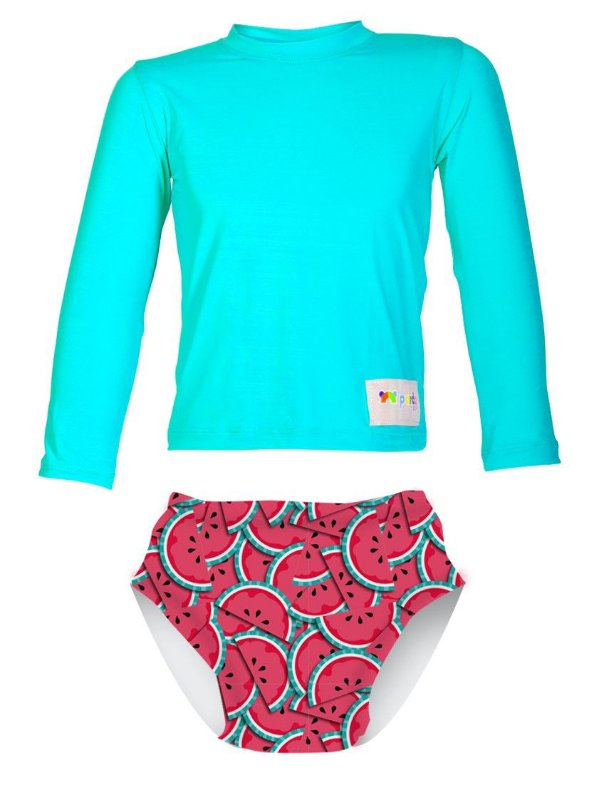 Camisa UV + Biquíni Fralda - Melancia