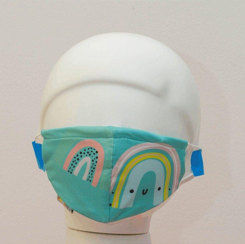 Máscara - Arco-íris azul