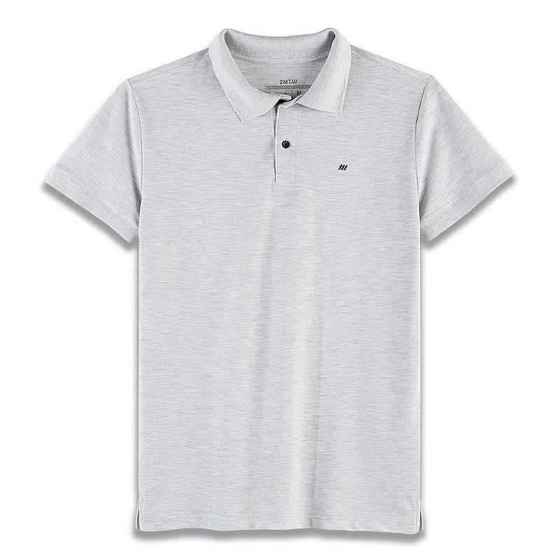 Camisa Polo Mugello - Mescla Gelo