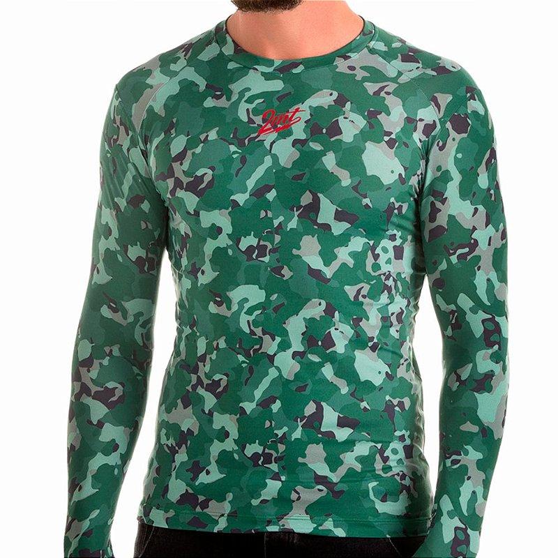 Camiseta Segunda Pele 2mt - Camuflada Verde