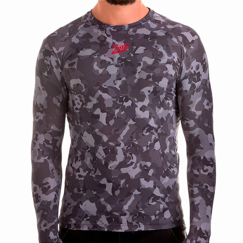 Camiseta Segunda Pele 2mt - Camuflada Cinza