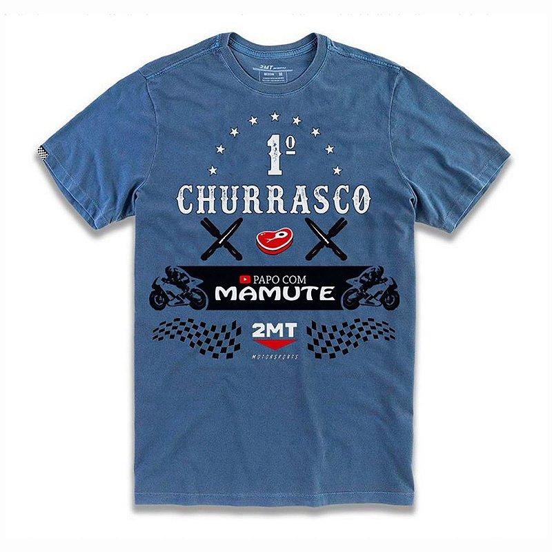 T-SHIRT 1º CHURRASCO PAPO COM MAMUTE