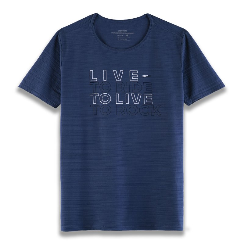 Camiseta LIVE - AZUL