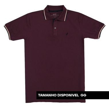 Camisa Polo Texas - Bordo