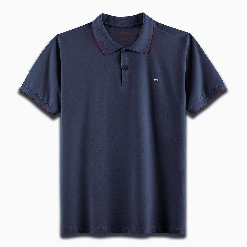 Camisa Polo Strasbourg Marinho/Vermelho