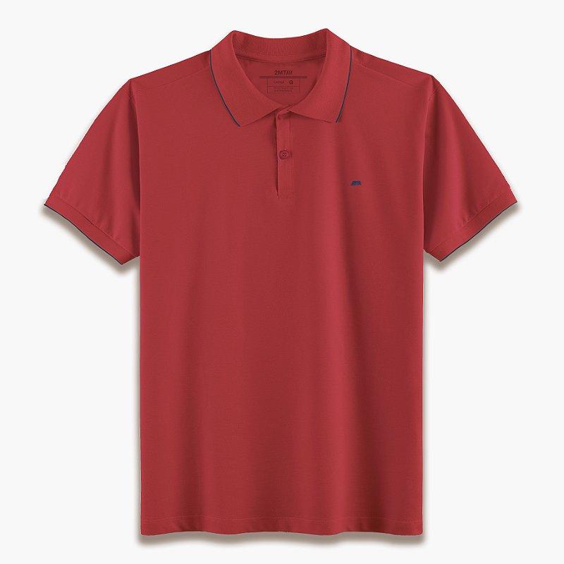 Camisa Polo Strasbourg Vermelho/Marinho