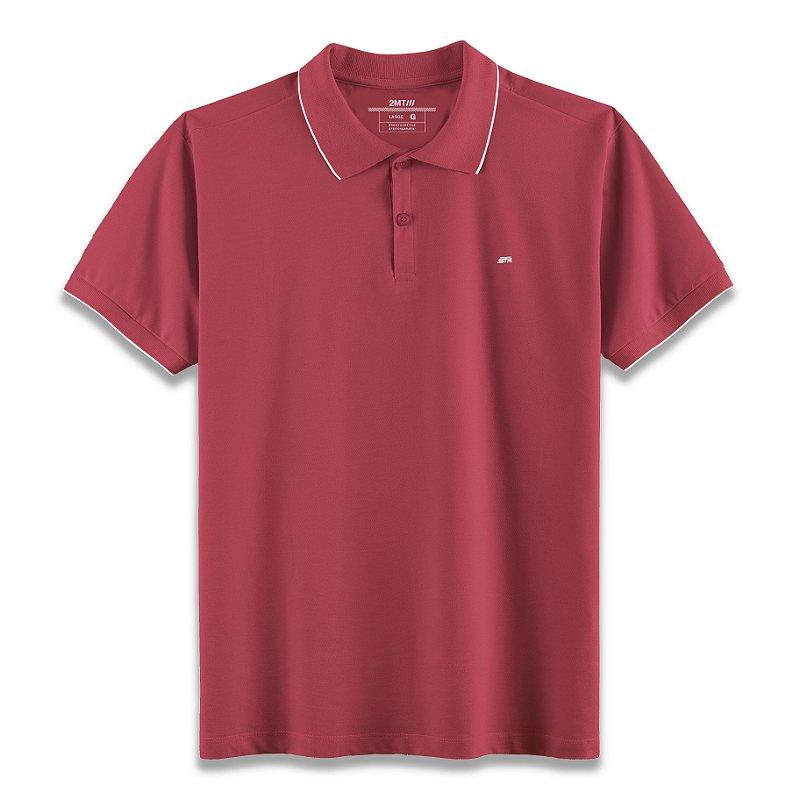 Camisa Polo Strasbourg Vermelho/Branco