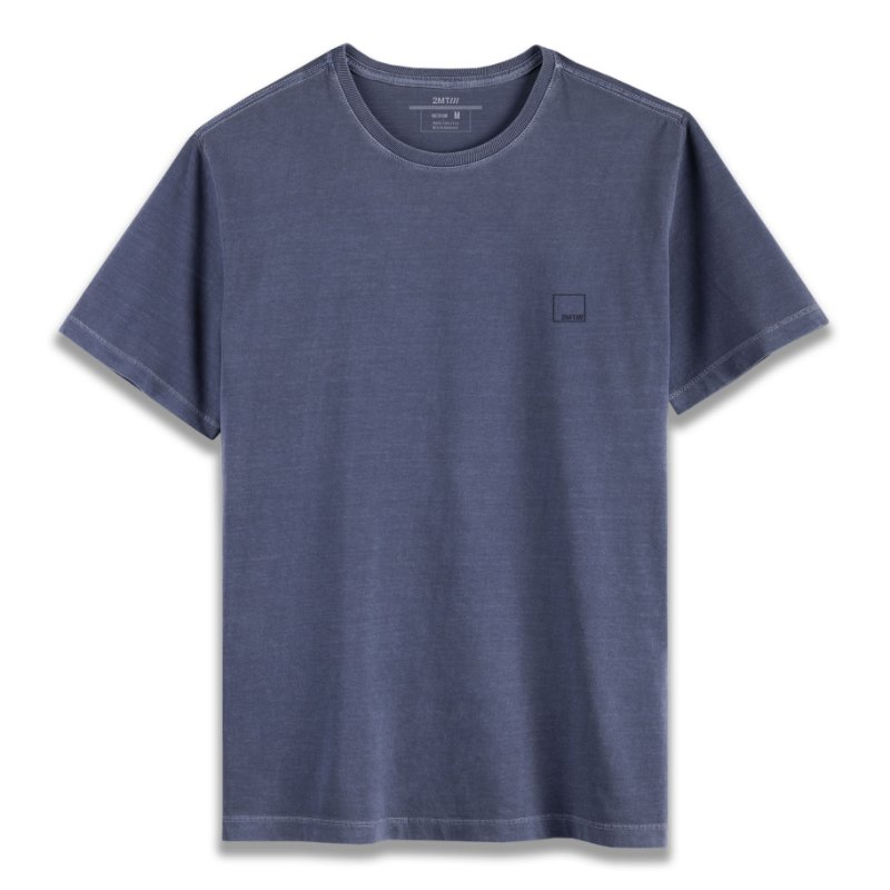Camiseta Basic Stone - Azul Denim