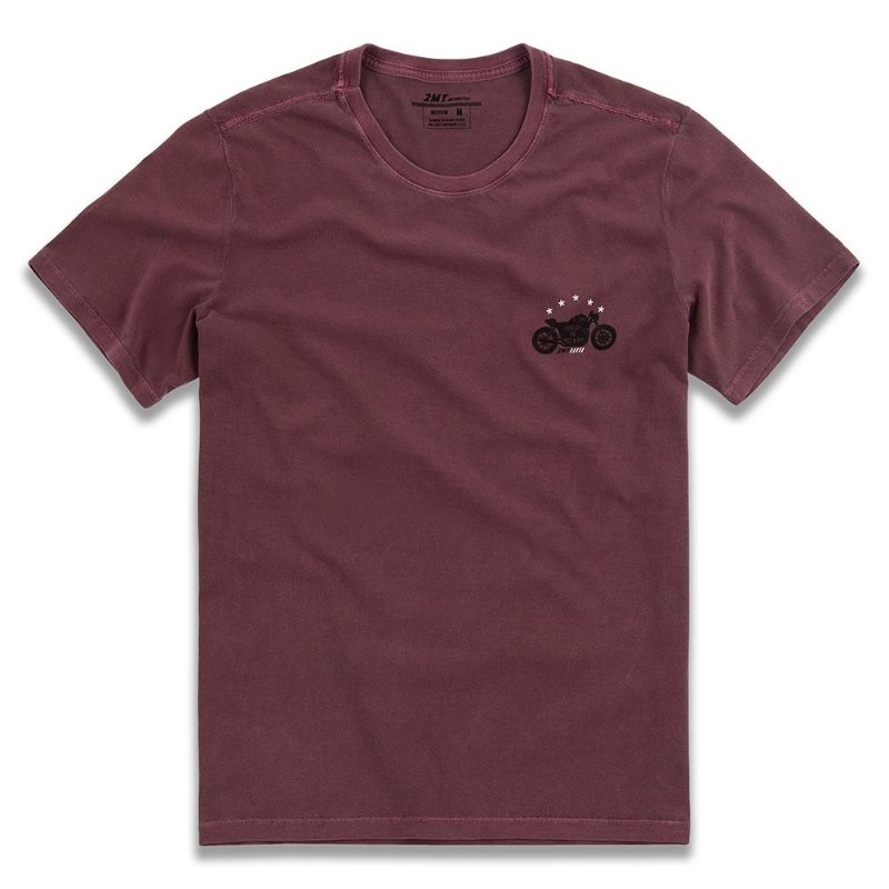 Camiseta Stone Biker - Vinho
