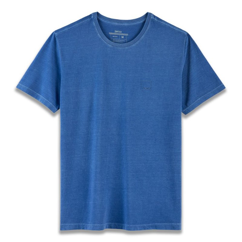 Camiseta Basic Stone - Azul Royal