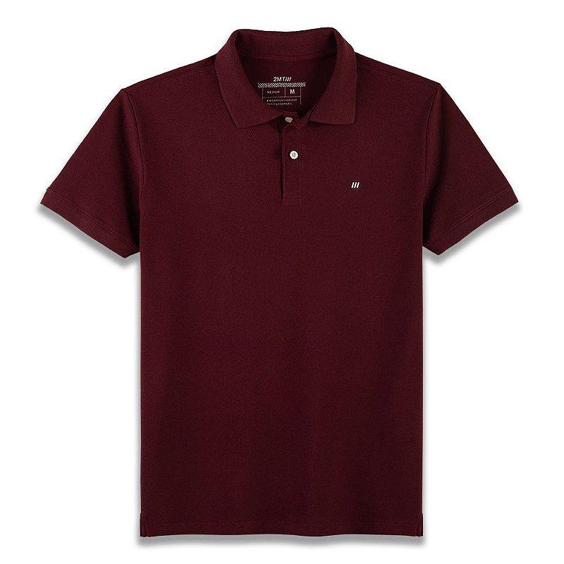 Camisa Polo Palermo - Vinho