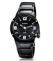 c7898deeed9 CURREN 8111 Relógio redondo análogico com aço de tungstênio ...