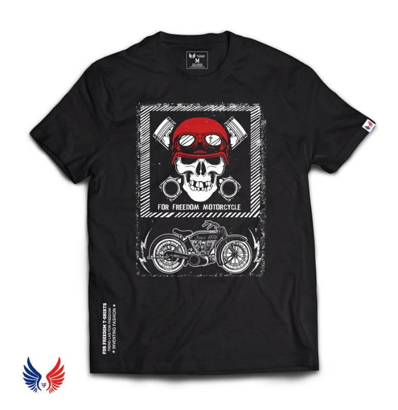 Camiseta For Freedom Motorcycle